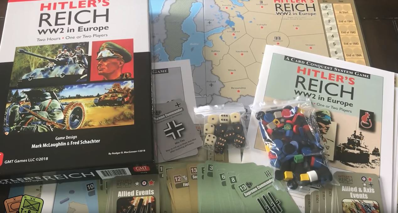 Unboxing: Hitler's Reich: WW2 in Europe from GMT Games – The