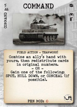 Tank Duel Command Card