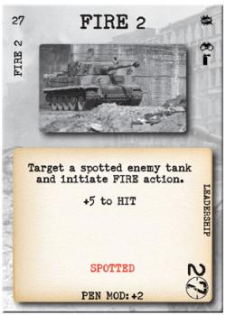 Tank Duel Fire Card