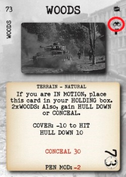 Tank Duel Woods Card Marked Up