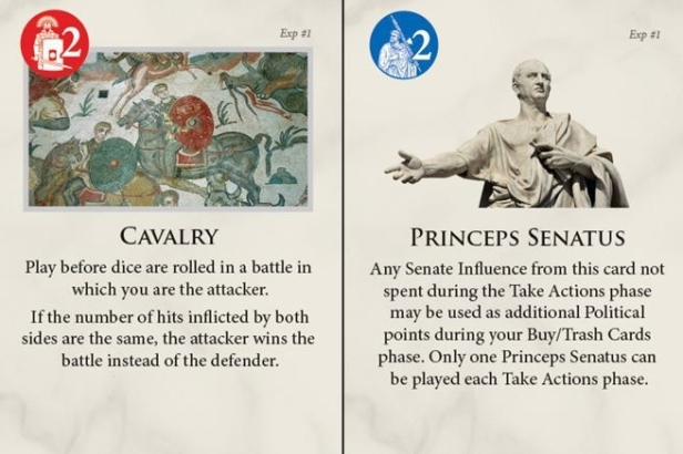 Time of Crisis The Age of Iron and Rust Card Examples Cavalry & Princeps Senatus