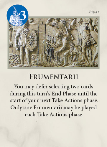 Time of Crisis The Age of Iron and Rust Card Examples Frumentarii