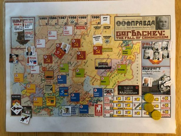 Gorbachev The Fall of Communism Map