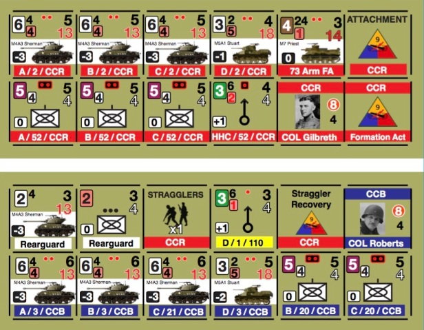 Race for Bastogne Playtest Counters