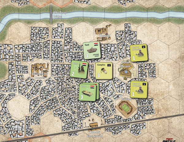 The Battle of Ramadi Counters on the Map