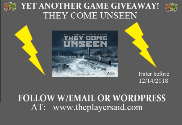 THEY COME UNSEEN giveaway