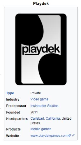 Playdek Stats