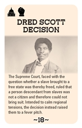 Bleeding Kansas Dred Scott Card