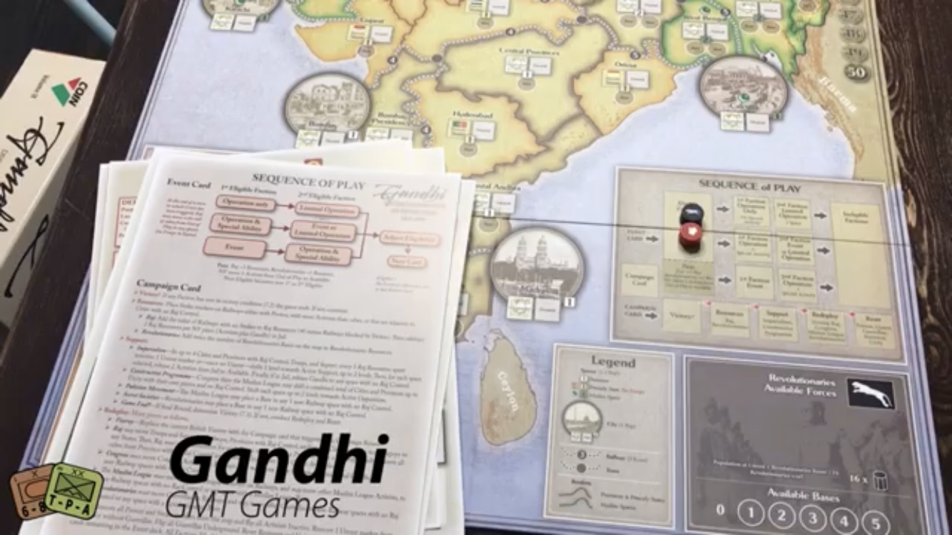 Unboxing Video: COIN Series Volume IX Gandhi: The Decolonization of British India, 1917-1947 from GMT Games