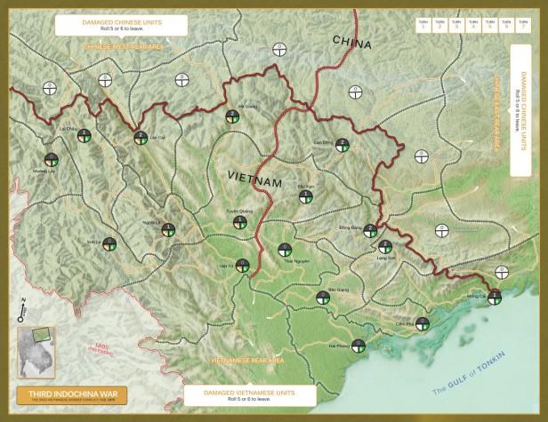 Brief Border Wars Map China vs. Vietnam