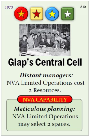Fall of Saigon Giap's Central Cell Event Card