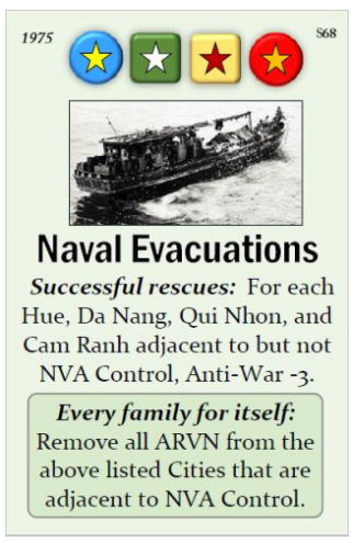 Fall of Saigon Naval Evacuations Event Card