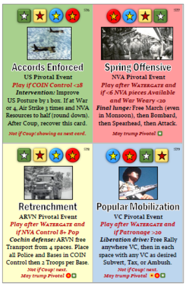 Fall of Saigon Pivotal Event Cards