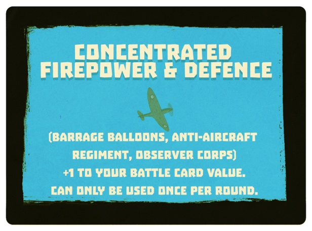 Battle of Britain Concentrated Firepower and Defence Tactic Card