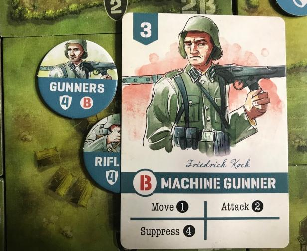 Undaunted Normandy Machine Gunner Card