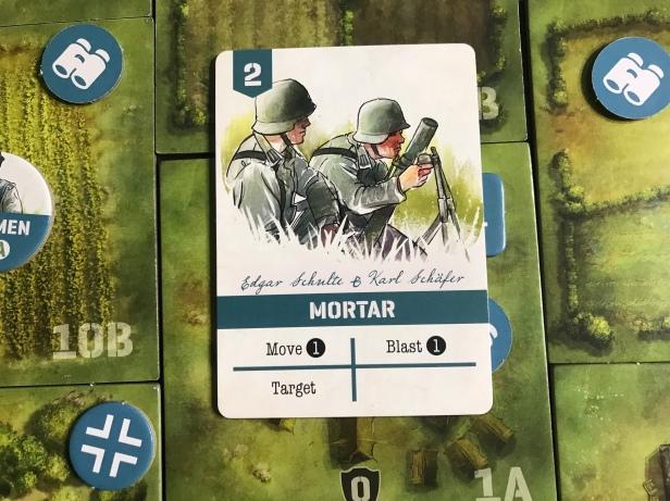 Undaunted Normandy Mortar Card