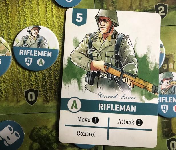 Undaunted Normandy Rifleman Card