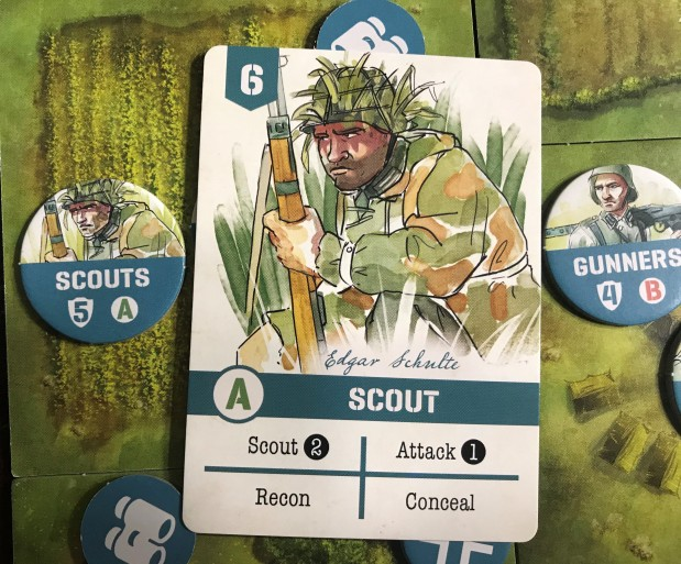 Undaunted Normandy Scout Card
