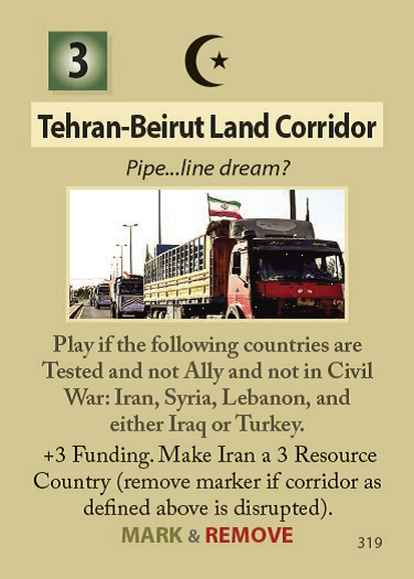 The Forever War Tehran Beirut Land Corridor Card #319
