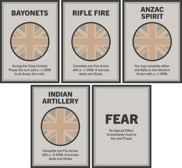 Anzac Cove ANZAC Action Cards