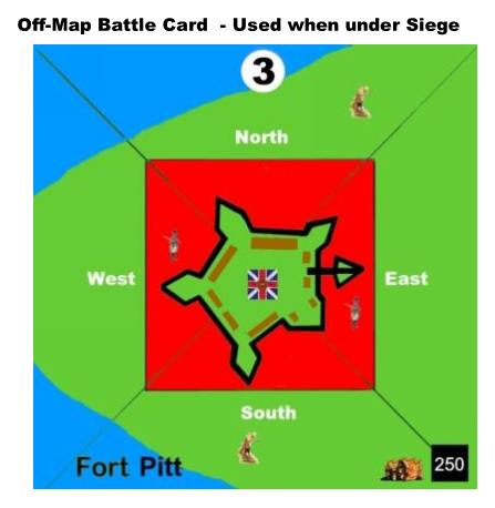 Pontiac's Uprising Off Map Siege Battle Card