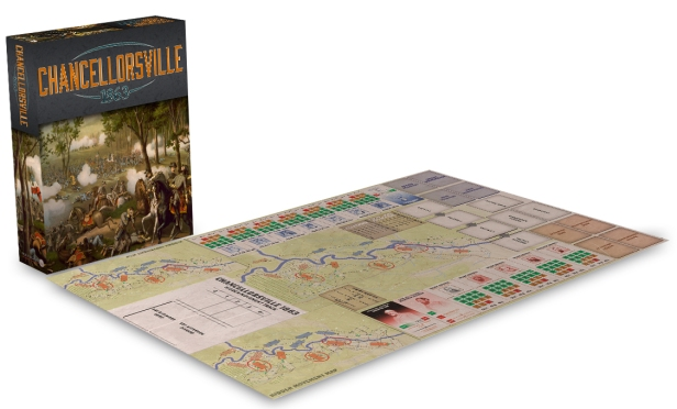 Chancellorsville 1863 3D Board and Box Cover