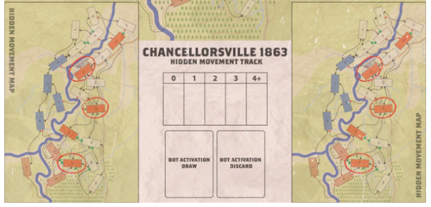 Chancellorsville Hidden Movement Mini Map