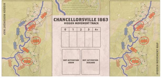 Chancellorsville Hidden Movement Mini Map