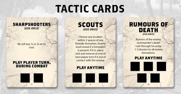 Chancellorsville Tactics Cards