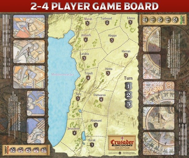 Crusader Kingdoms Board