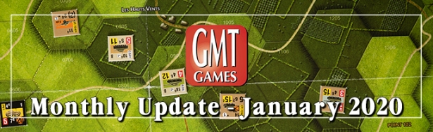 GMT Games January 2020 Monthly Update Banner