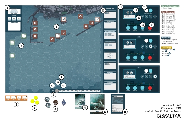 By Stealth and Sea Scenario Setup Graphic Image