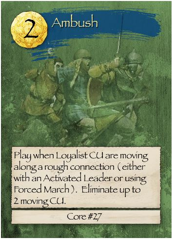 Barbarians at the Gates Ambush Card
