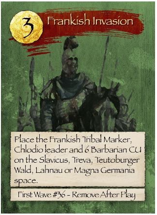Barbarians at the Gates Frankish Invasion Card