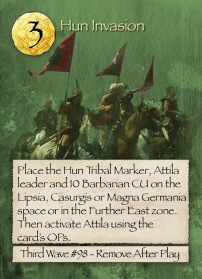 Barbarians at the Gates Hun Invasion Card