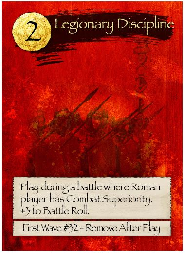 Barbarians at the Gates Legionary Discipline Card