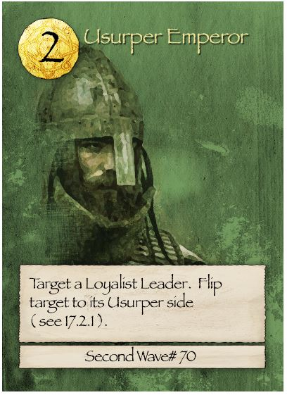 Barbarians at the Gates Usurper Emperor Card
