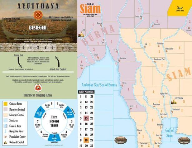 Fall of Siam Game Board