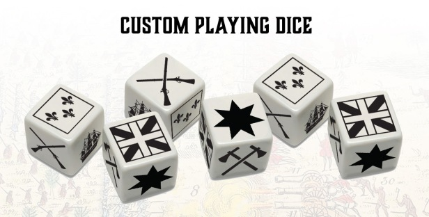 The French & Indian War Custom Dice