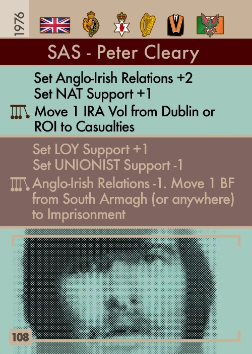 The Troubles - SAS - Peter Cleary Card #108