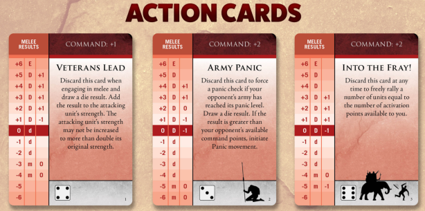 Dawn of Battle Action Cards