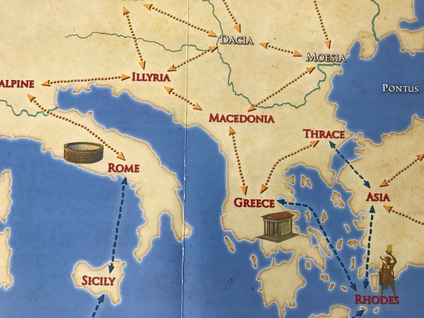 Solitaire Caesar Map Italy Greece