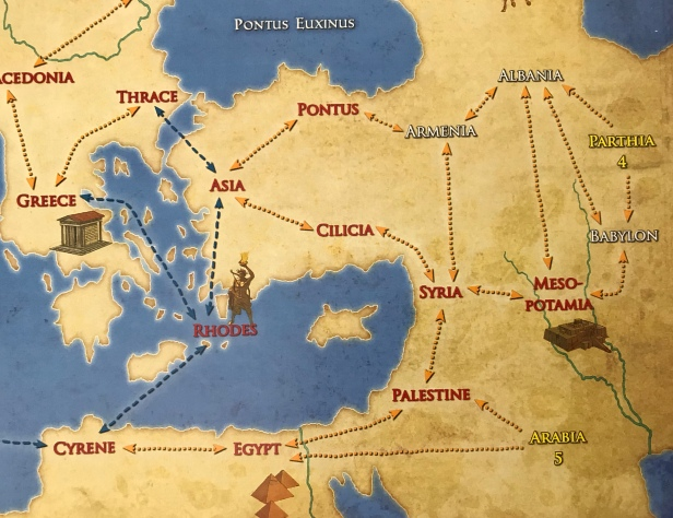 Solitaire Caesar Map Near East