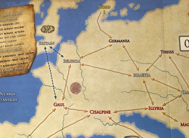 Solitaire Caesar Map North
