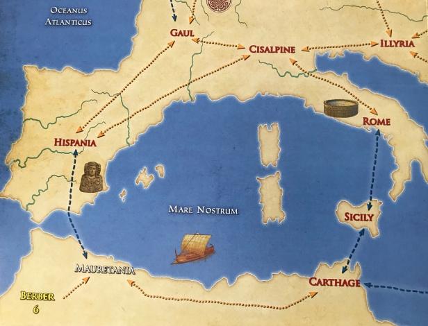 Solitaire Caesar Map West