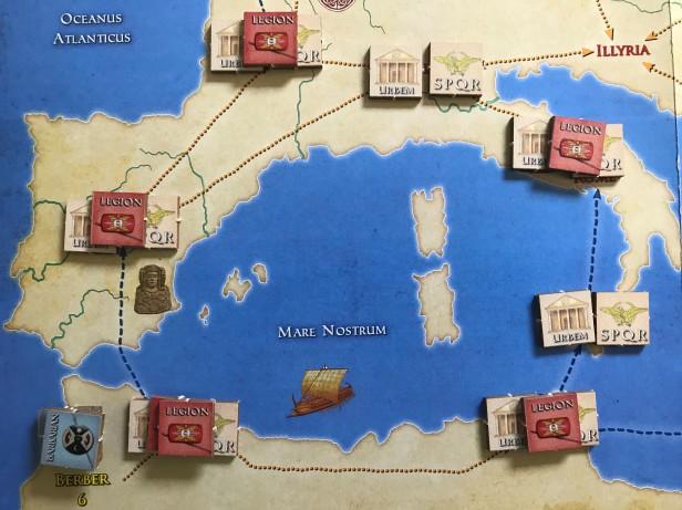 Solitaire Caesar Preparing for Invasion
