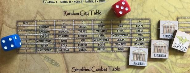 Solitaire Caesar Randome City Table Process