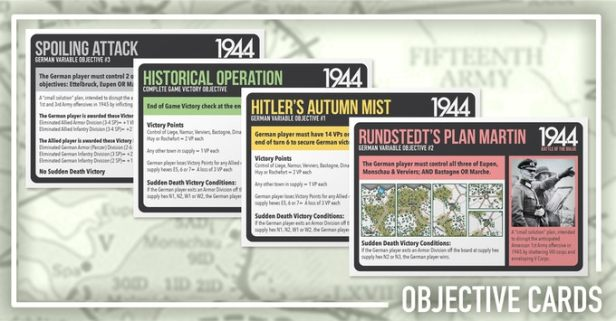 1944 Battle of the Bulge Objective Cards
