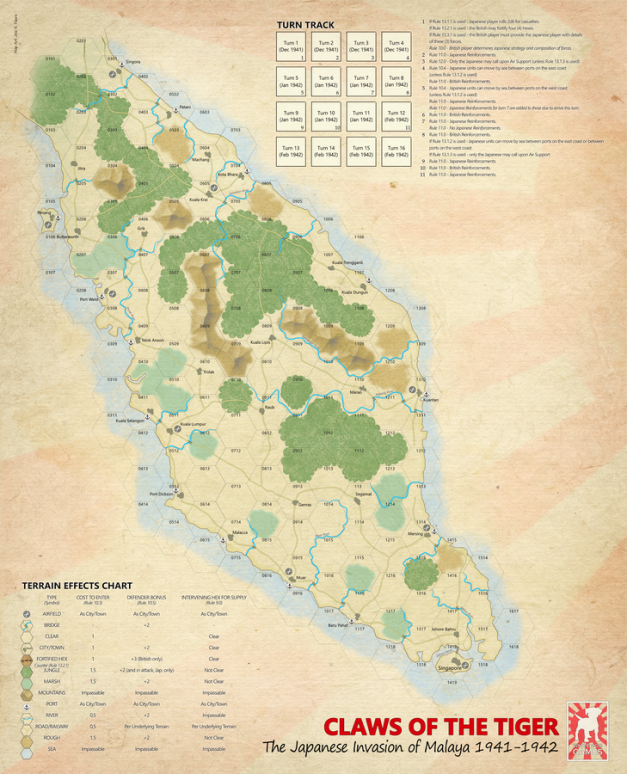 Claws of the Tiger Map