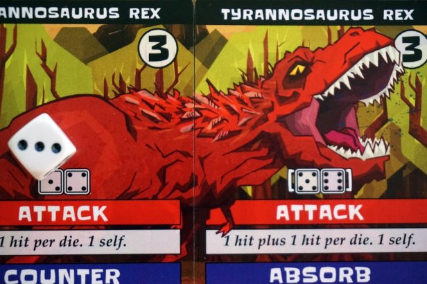 Dinosaur Table Battles T-Rex Cards